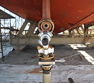 optical alignment telescope Amberjack shaft and engine alignment